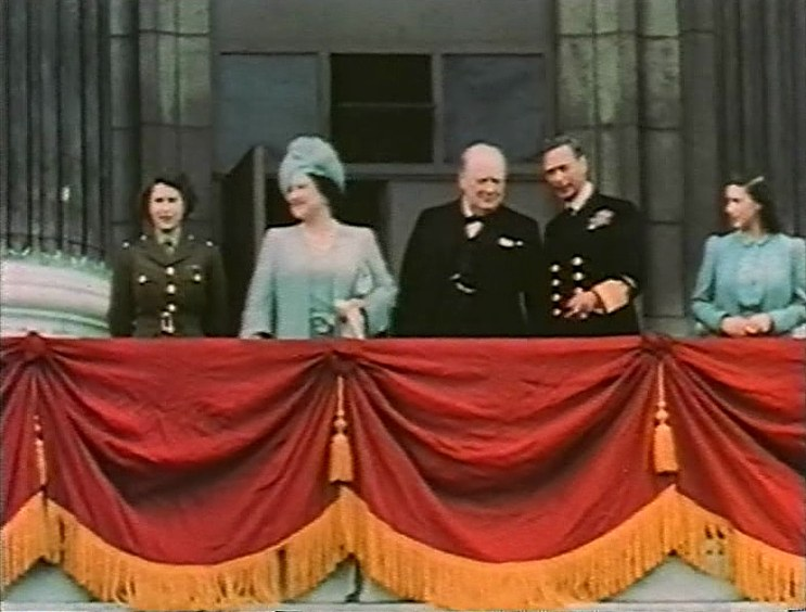 Queen Elizabeth King George And Winston Churchill