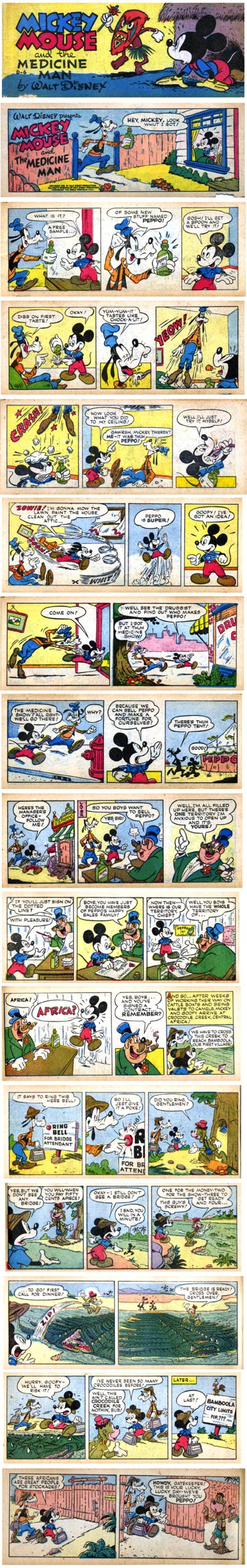 Mickey Mouse Speed Dealer Comic