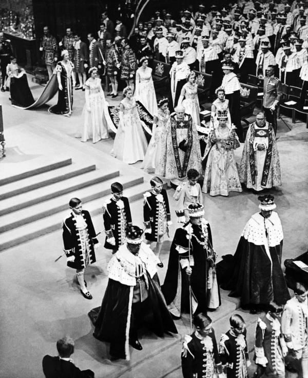 Queen Elizabeth Ii Coronation Above