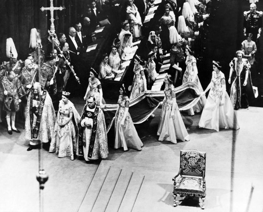 Queen Elizabeth Ii Coronation Gown