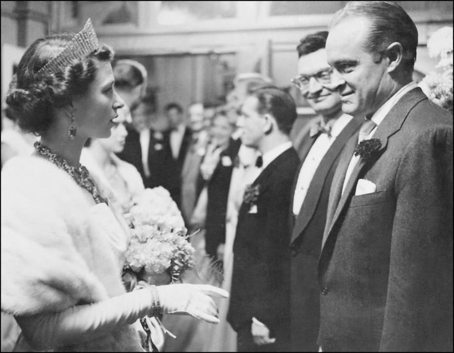 Queen Elizabeth II Meets Bob Hope