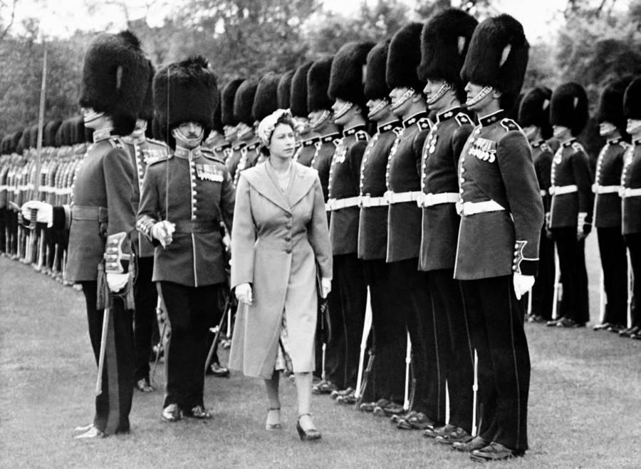 Queen Elizabeth Ii Inspecting