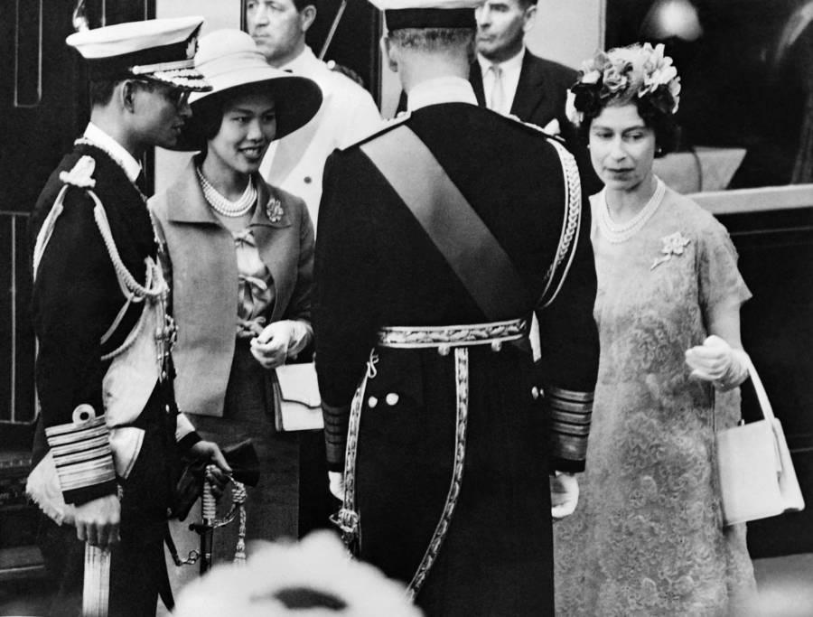 Queen Elizabeth II Meets The King Of Thailand
