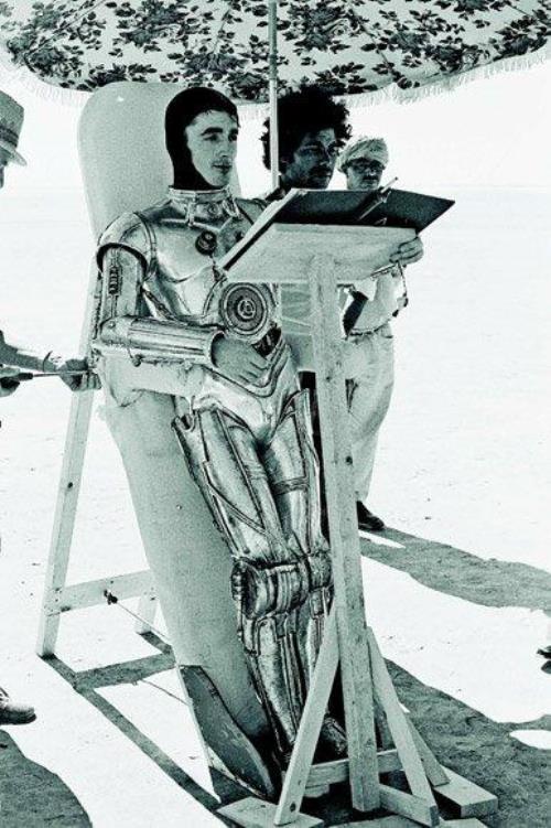 C-3PO Getting Into Costume