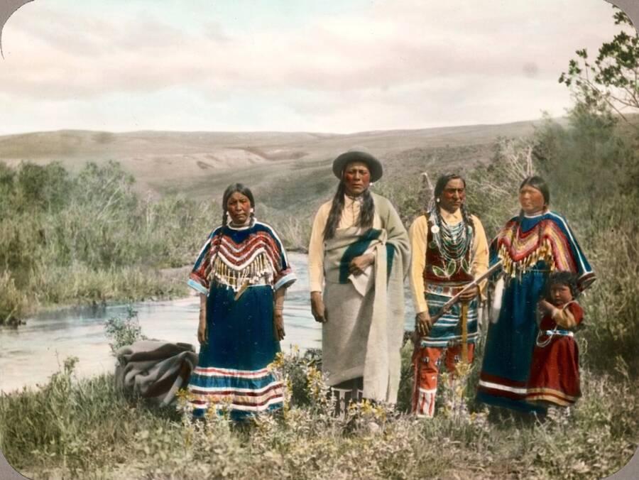 Blackfeet Group In Montana