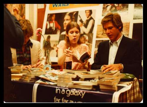 Harrison Ford And Carrie Fisher At A Book Signing