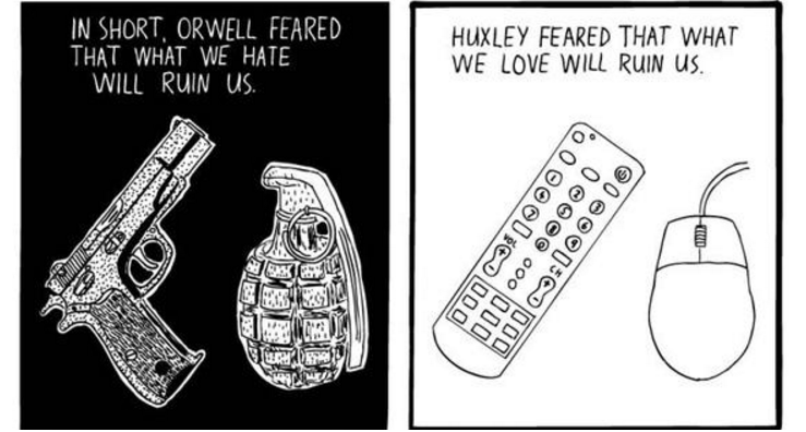 Image result for huxley amusing ourselves to death