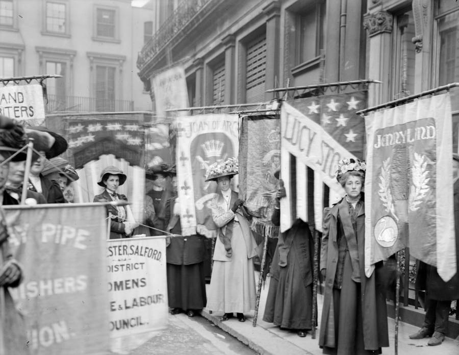 Suffragists At A Pageant