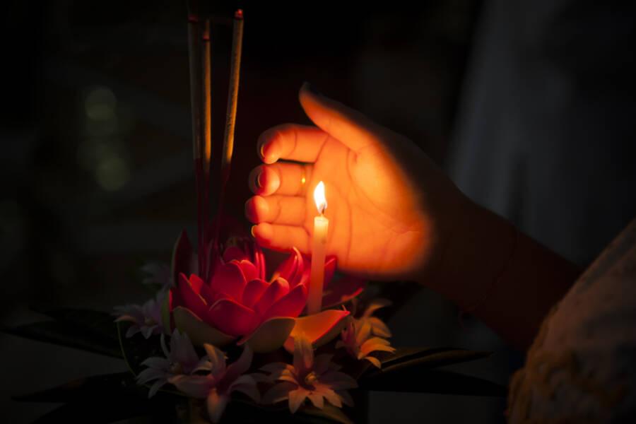 Candle Lit Krathong