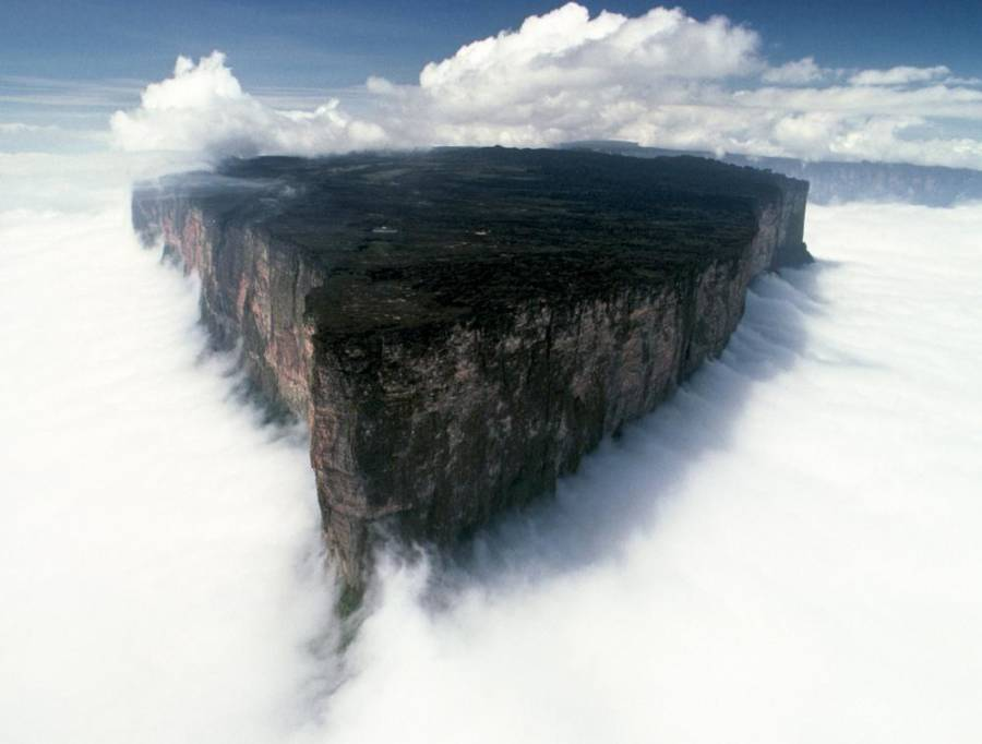 Mount Roraima Surrounded By Clouds