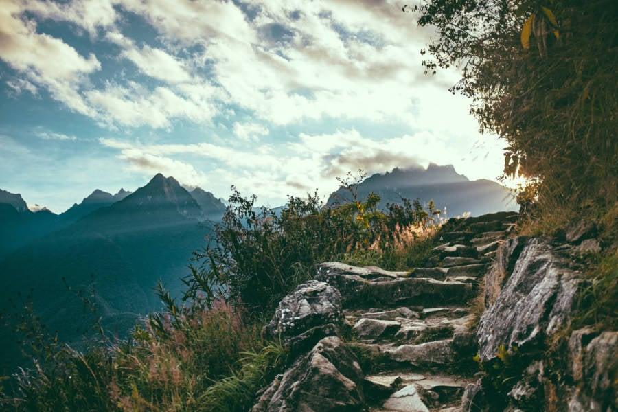 Steps Machu Pichhu Peru