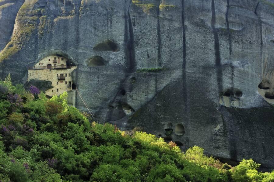Cliff Monastery Greece