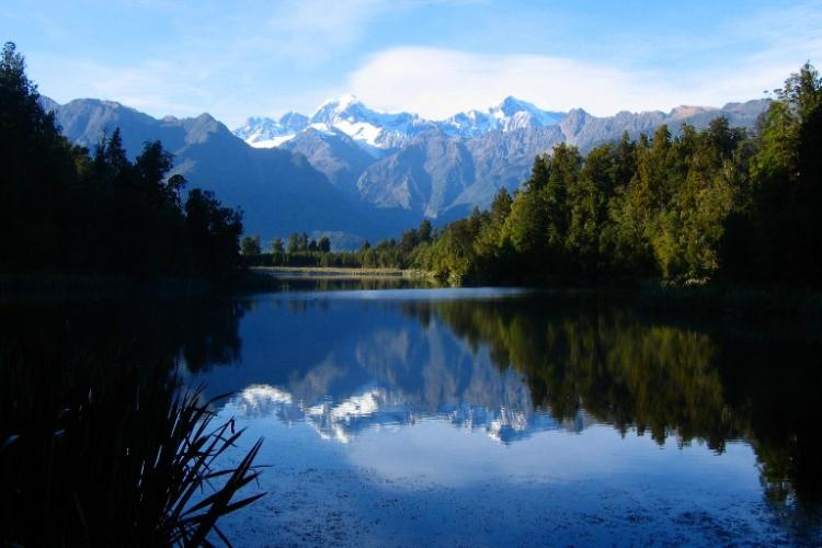 Lake Matheson Beautiful Lake Photograph