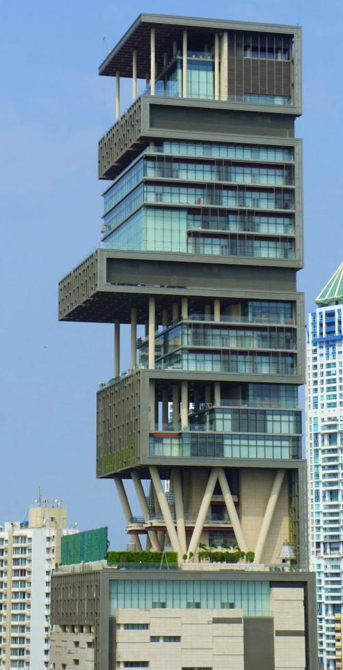 City Scape of Mumbai with Antilia House Picture