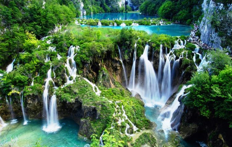 Beautiful Lakes Plitvic Lakes of Croatia