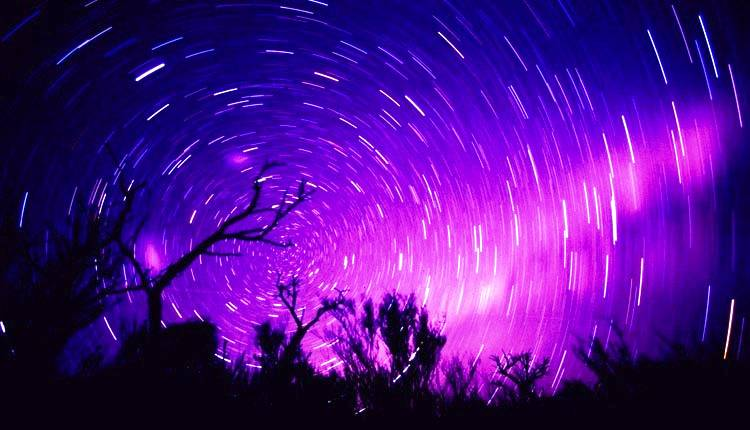 Beautiful Star Trails Photograph