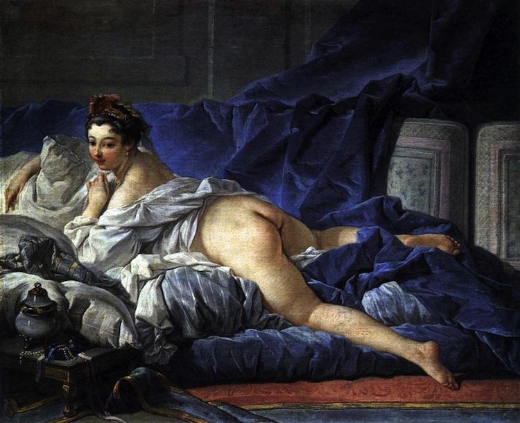 Rococo Art Brown Odalisque