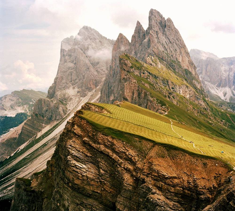 On Top Of The Dolomites Mountains Photograph