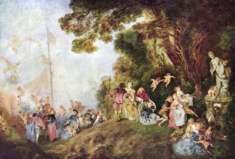 Rococo Art The Embarkation for Cythera