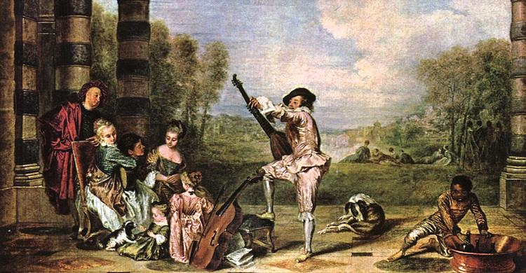 The Delights of Life By Jean Antoine Watteau
