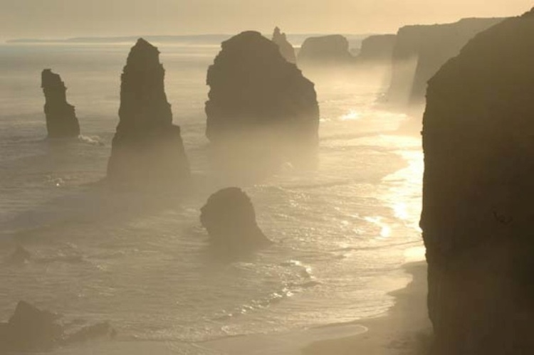 Hazy Sunlight At Australias 12 Apostles