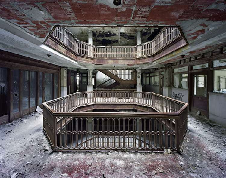Abandoned Courtroom In Detroit