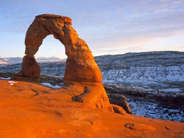 A View From The Formations At Arches National Park