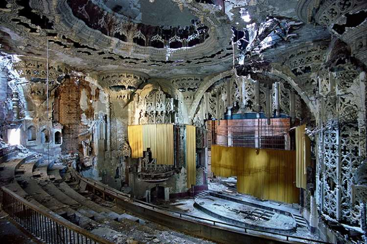 Abandoned Theater In Detroit Photograph