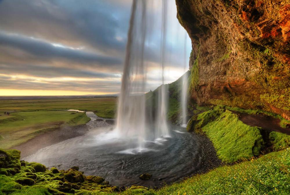 Wondrous Waterfall Of Seljalandsfoss Iceland Photograph