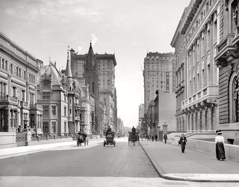 New York City Fifth Avenue 1908 Photograph