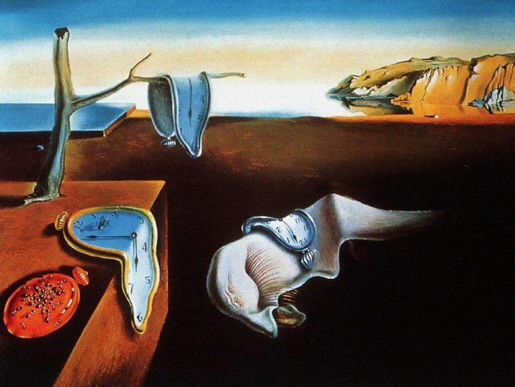 Salvador Dali's Persistence Of Memory Surrealist Painting