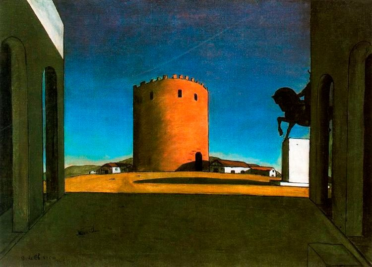 Giorgio de Chirico The Red Tower Painting