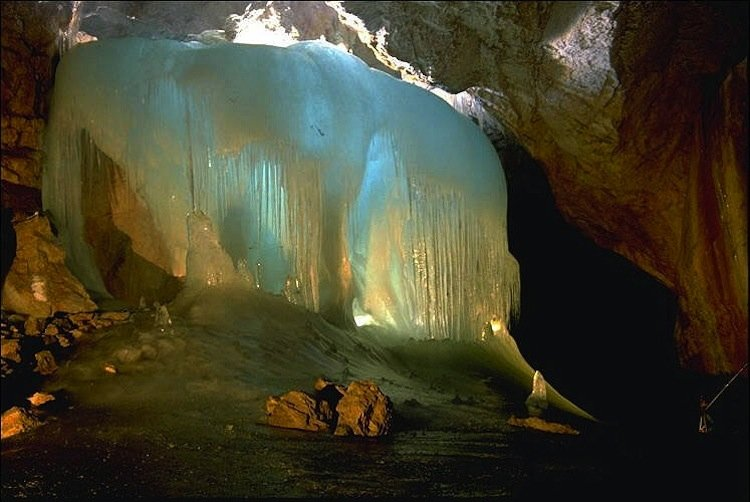 Intricate Ice Caves Eisriesenwelt