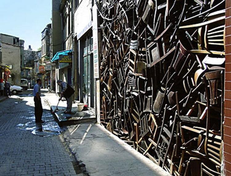 Interesting Installation Art Chair Building