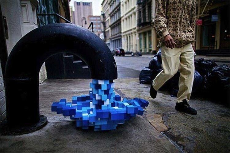 Amazing Installation Art Pixel Pour 3