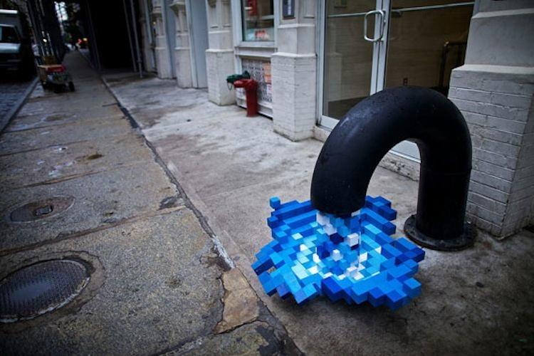 Interesting Installation Art Pixel Pour