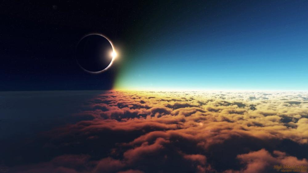 Astounding Eclipse From Clouds