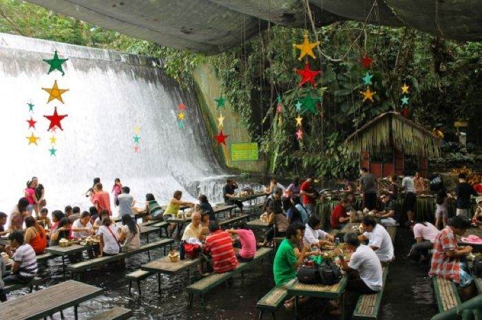 Filipino Waterfall Restaurant Tables