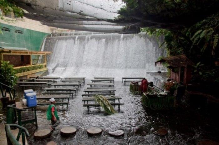 Filipino Waterfall Restaurant From Above