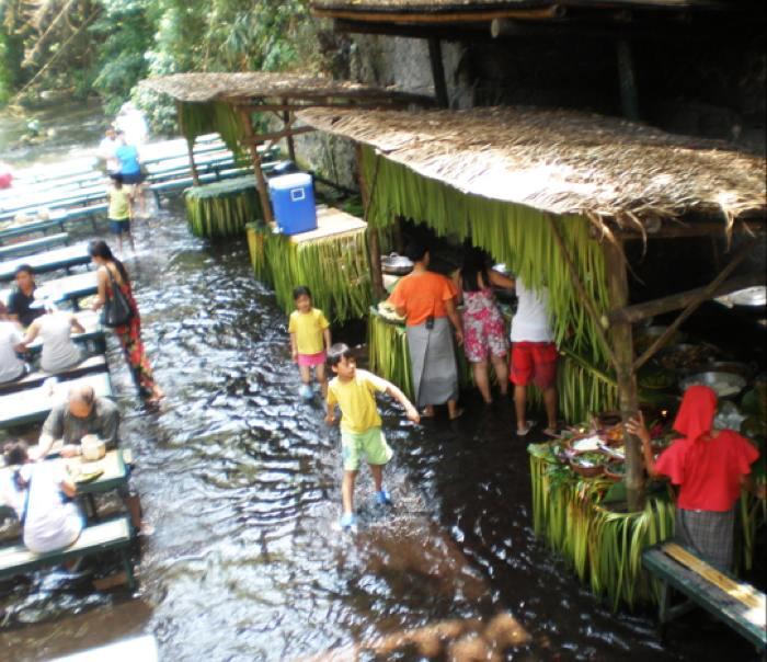 Filipino Waterfall Restaurant Cooking