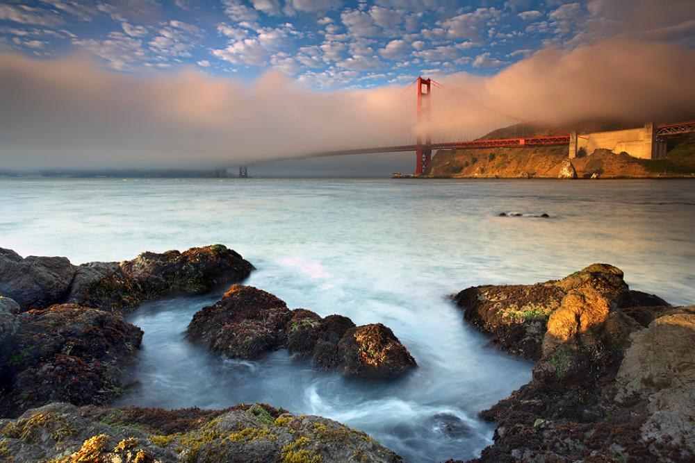Golden Gate Bridge Foggy Photograph