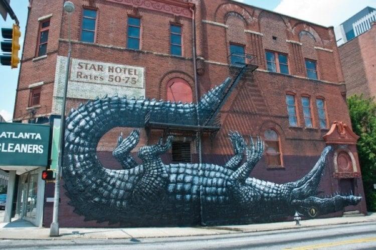 Lounging Gator Best Street Art 2011