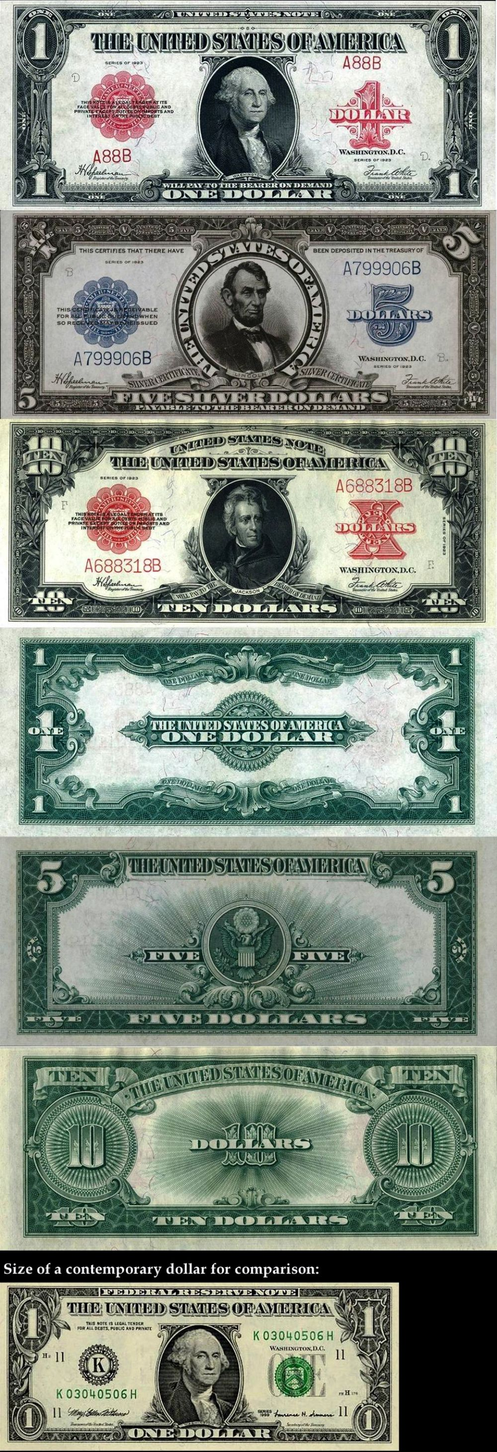 US Currency 1923 Photos