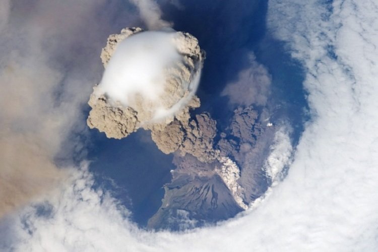 Japan Volcano Images From Space