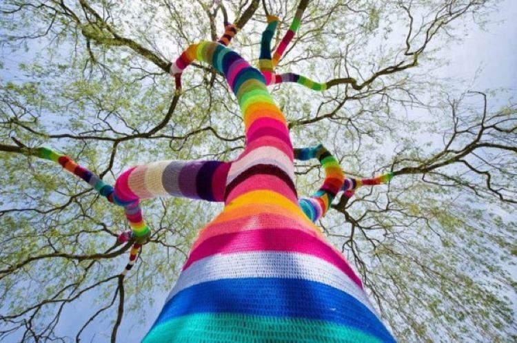 Woven Tree Street Art 2011
