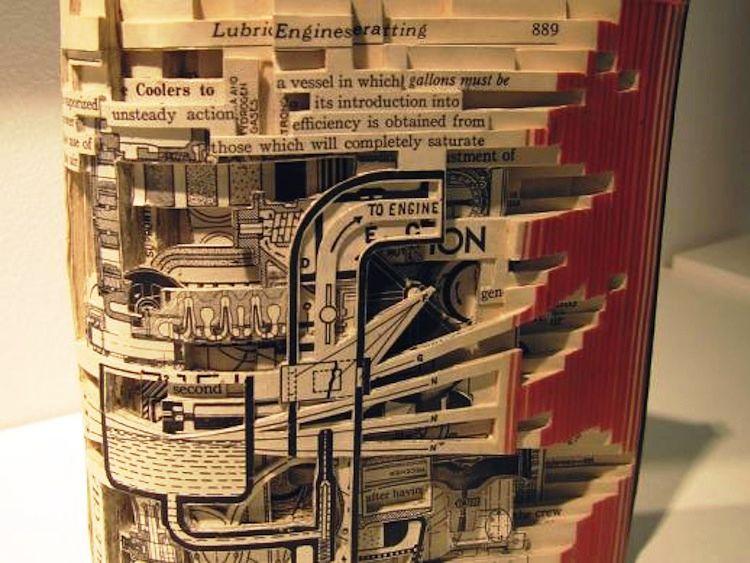 Brian Dettmer Book Sculpture