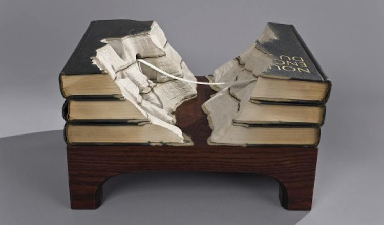 Guy Laramee Book Sculpture Artists