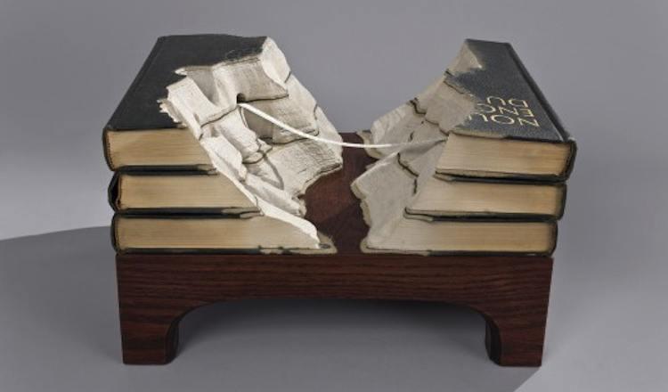 Guy Laramee Book Sculpture Artists
