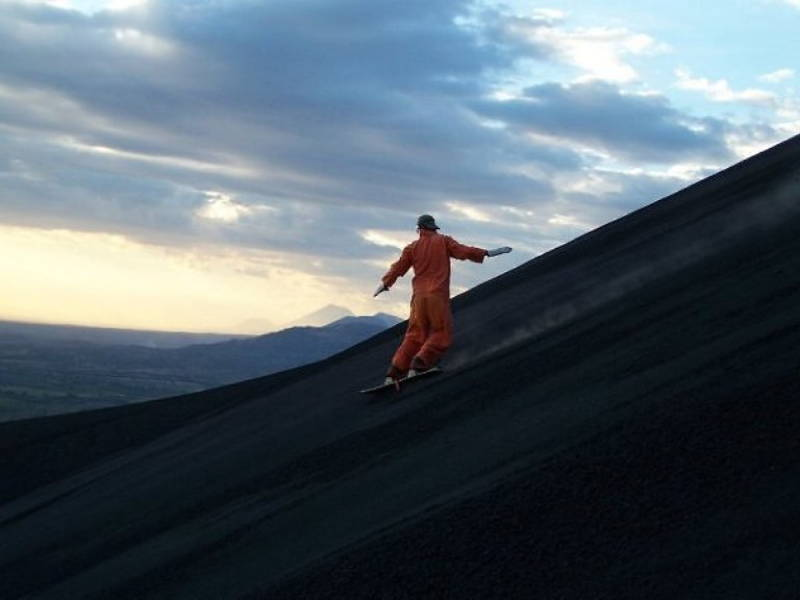 Volcano Boarding Photograph