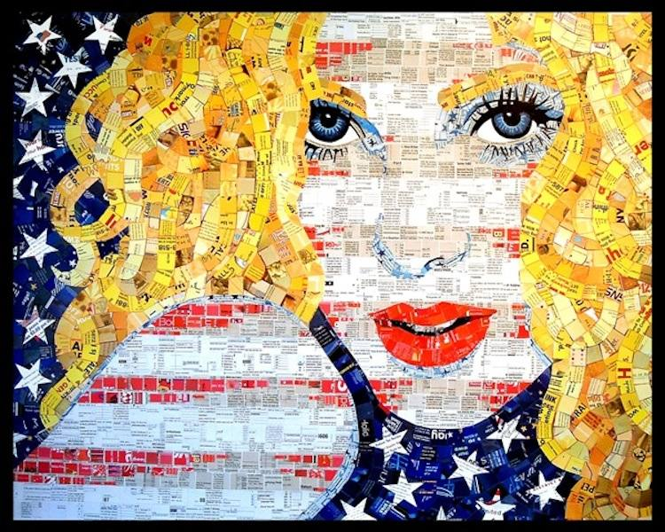 Recycled Art All American Girl